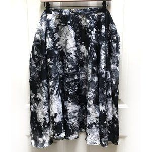 Bea & Dot Modcloth black Ikebana Circle Skirt 4X